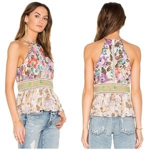 NEW Rebecca Taylor mixed print tank top
